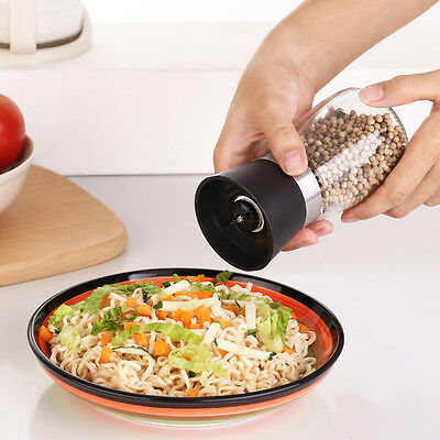 Salt & Pepper Grinder Spice Herb Glass Muller Hand Mill Grinding Bottle
