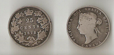 Canada 25 cents 1872 H