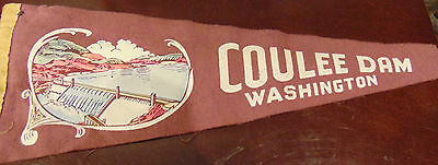 Vintage Coulee Dam Washington Felt Pennant