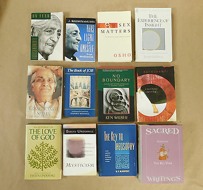 Lot of 12 Spiritual Eastern Religion Philosophy Enlightenment Buddhism Books