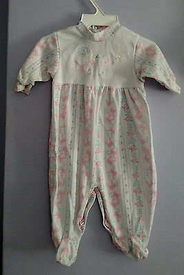 "Vintage Tapioca ""I Love My Daddy"" Sleeper With Feet Size 0-13 lbs"