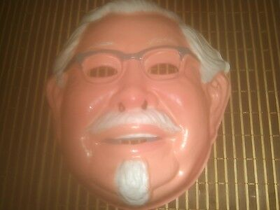 Vintage KFC COLONEL SANDERS MASK Kentucky Fried Chicken HALLOWEEN Spitting Image