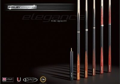 Riley Elegance RELE-4 Set + Koffer + Verlängerung Top Profi Snooker Queue NEU