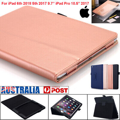 "ROCK Shockproof Leather Case Kickstand Flip Cover For New iPad 2017 9.7"" &10.5"""