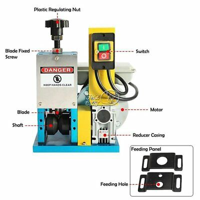 Portable Powered Electric Wire Stripping Machine Metal Tool Cable Stripper Blade