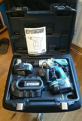 Erbauer Combi Cordless Drill 18v with 2 batteries boxed