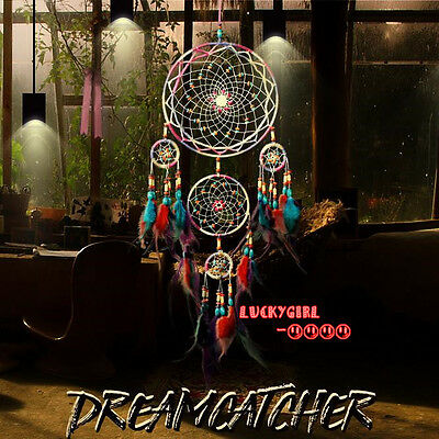 luxury beaded feathers dream catcher handicraft home living room decoration