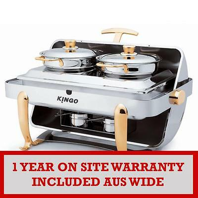 KG2402-1 Oblong Chafing Dish with Chrome Legs - Single VALUE