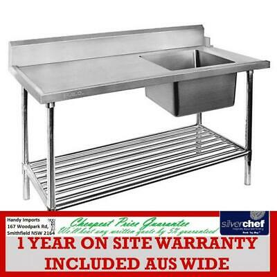 Fed Commercial - Right Inlet Single Sink Dishwasher Bench Sbbd-7-1800R