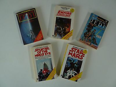5 x Star Wars Paperback / Graphic [USA]  Books from 1970s - 1980s