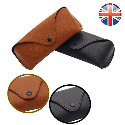 *UK Seller* Leather Sunglasses Reading Glasses Carrying Case Travel Pouch Retro