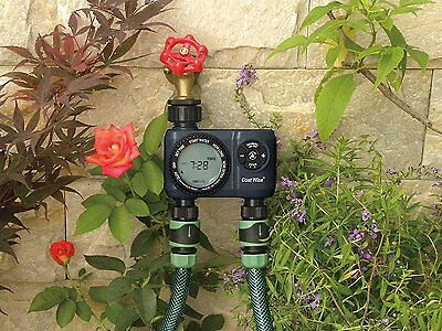 Double outlet garden water timer by Cost Wise® ,the irrigation specialists