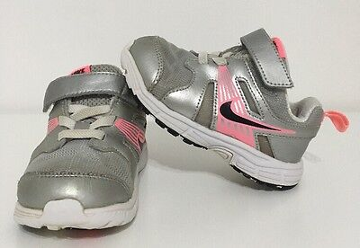 Toddler Nike Shoes Size 7C Dart 10 Pink Gray Silver