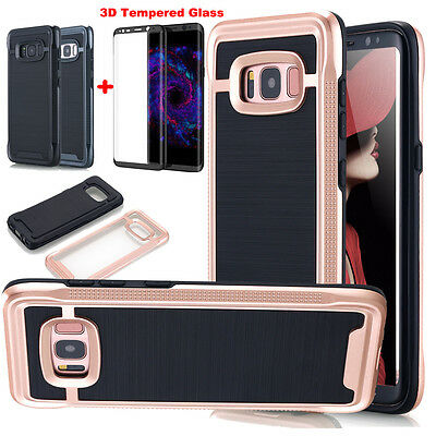 For SAMSUNG GALAXY S8/S8 Plus+ Hybrid IMPACT Case Cover Tempered Glass Protector