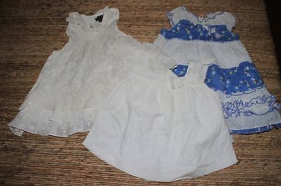 Pumpkin Patch Baby Girls Dresses  x 2 and top - Size 3-6 months & 12-18 months