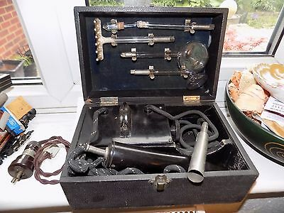 Antique Vintage Violet Ray Wand Electric Shock Therapy Machine With Glass Probes