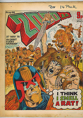 2000AD COMIC 16 issues from Prog No. 66 to 91- 1978