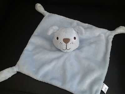 Boots Mini Club Blue Puppy Dog Baby Comforter Puppet Soft Comfort Toy