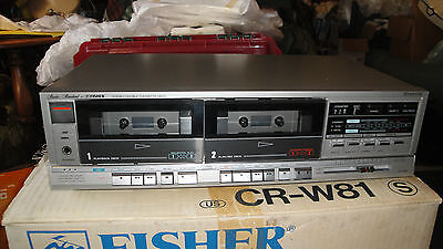 VTG Fisher CR-W81 Studio Series stereo Dual Cassette Deck NIB w/ instructions