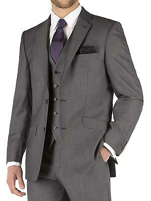 Suit Direct Pierre Cardin Performance Grey Twill Regular Fit Suit Jacket 0045058