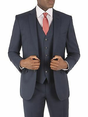 Suit Direct Racing Green Navy Check Tailored Fit Jacket 0043286