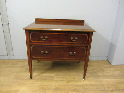 Antique Mahogany 2 drawer chest of drawers