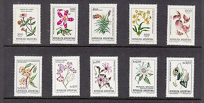 Argentina 1982  Flowers   Mint unhinged selection 10 stamps.