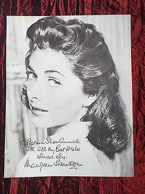 """Maureen Swanson - Film Star - 1 Page Picture -"""" Clipping / Cutting""""- #2"""