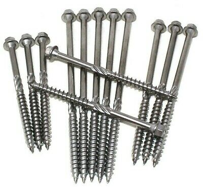 A4 Marine Grade Stainless Steel Timberlok Green Oak Sleeper Timberfix Screws