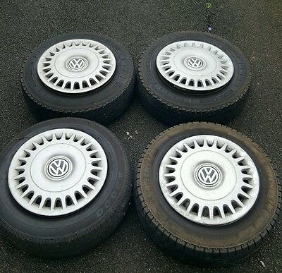 "4 x 15"" wheels and tyres for VW t4 - caravelle"