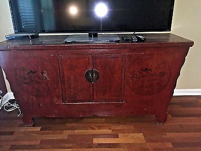 Antique Asian Chinese Buffet Cabinet Sideboard Credenza
