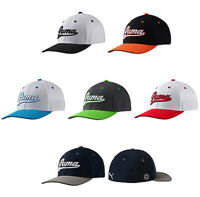 Puma Script Fitted Hat Mens Golf Cap New - Pick Size And Color!! Ricky ec780b6e99fe