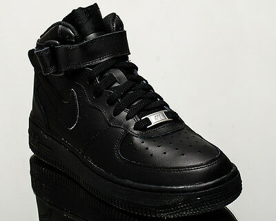 more photos 8a3a6 8f385 Nike Air Force 1 Mid GS youth lifestyle casual sneakers black 314195-004