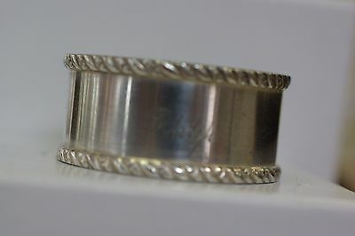 "Vintage Silver Tone Napkin Ring Engraved "" PHILIP """