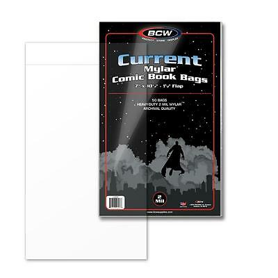 BCW 1CUR Current Comic Bags100 Bags Per Pack *Use With # 1-Bbcur