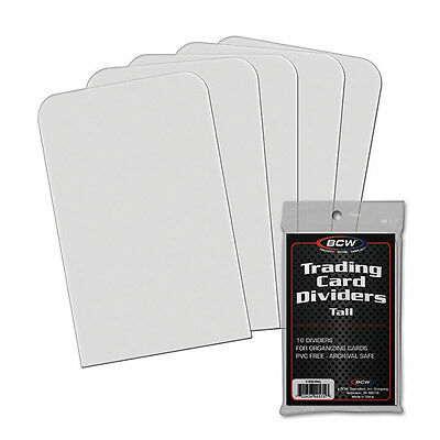BCW 1TCDTALL Tall Trading Card Dividers