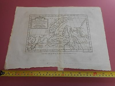 100% ORIGINAL CHART OF les samojedes et ostiacs ARTIC MAP BY BELLIN  C1770 VGC