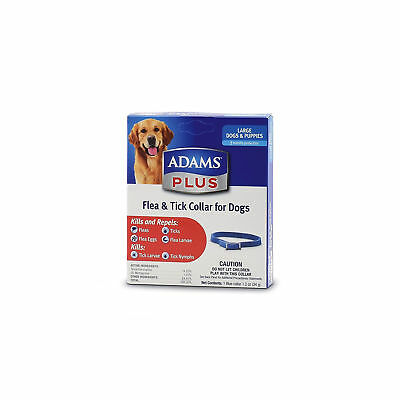 Adams Plus Flea and Tick Collar for Large Dogs Puppies Kills and Repels 7 Months