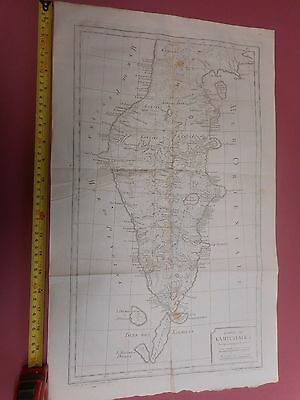100% Original Large Chart Of Kamatchatka Russia  Map By Bellin  C1770 Vgc