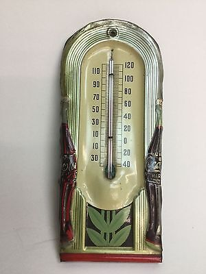 ORIGINAL COCA COLA THERMOMETER 1941 TIN  DOUBLE BOTTLE  VINTAGE as-is