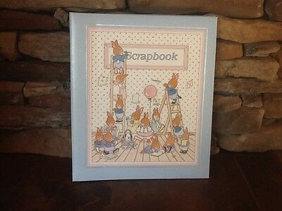 "CR GIBSON Rabbits 11"" x 14"" SCRAPBOOK ALBUM UNISEX BABY BOY - GIRL"
