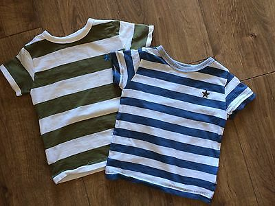3 Boys Next Tshirts In Excellent Condition 9-12 Months