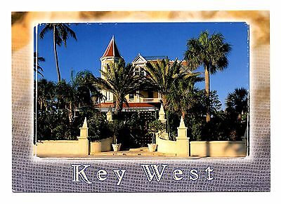 Key West Florida Postcard Southernmost Home Built 1912 Tropical Trees Whitehead