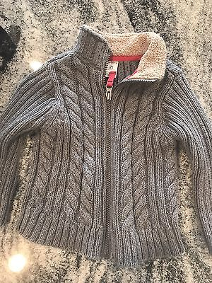 Boys Gray Zip Up Sweater - Size 2t
