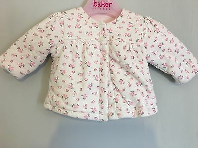 Cute Baby Girls Thick Padded Floral Jacket 0-3m🎀