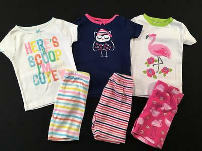 3 Pair Girls Carters Gymbo 2T Two Piece Cotton Pajamas Clothes Lot G7 Free Ship