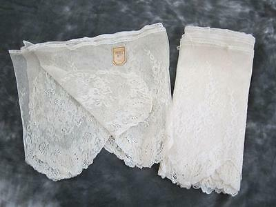 Antique 1900s 2 Pieces Ivory Hand Made Swiss Lace Trim 14' and 4' Unused