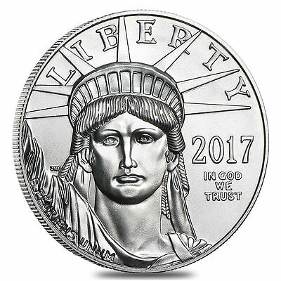 Lot of 5 - 2017 1 oz Platinum American Eagle $100 Coins