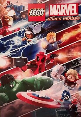 Lego Marvel Super Heroes (2) Large A4 Poster Picture Print Art