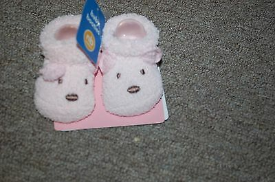 Carters NB 0-3 Months Baby Booties Pink Baby Socks NEW